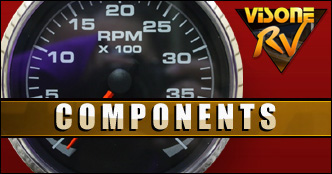 RV Components USED FARIA TEMP DASH GAUGE GP9141A FOR SALE